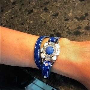 Lia Sophia leather wrap flower